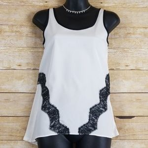 Express Tank Top With Lace Detailing
